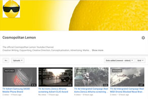 Cosmopolitan-Lemon-Advertising-Youtube-channel